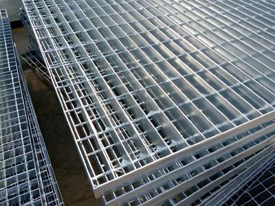 Inserted steel grating